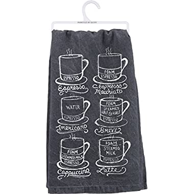 Primitives By Kathy Tea Towel- Espresso