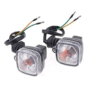eDealMax 2 Piezas LED Amarillo de la motocicleta Universal señal de vuelta de las lámparas de