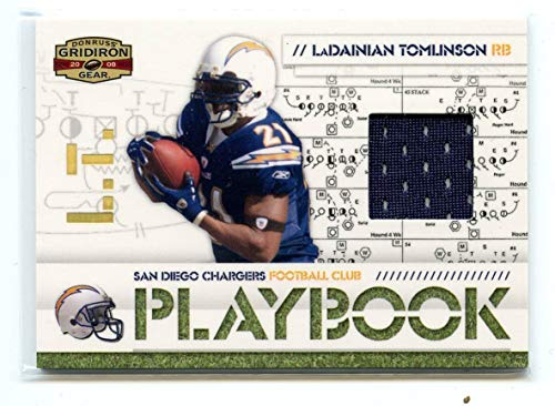 2008 Gridiron Gear Playbook Jersey Prime #PL-19 LaDainian Tomlinson Chargers - Near Mint Condition Ships in New - Gear 2008 Gridiron