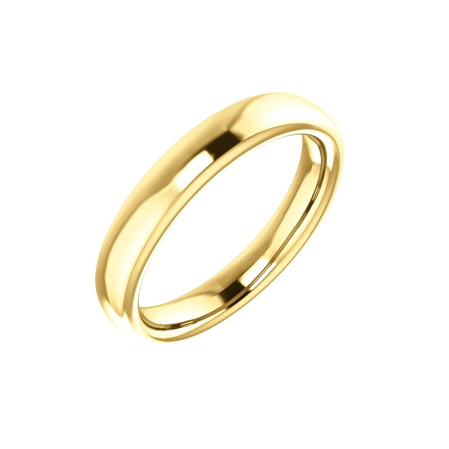 STU001- 10K Yellow Band for 10x8mm Oval Ring