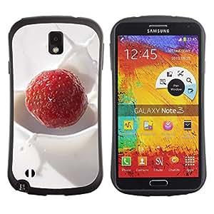 Suave TPU GEL Carcasa Funda Silicona Blando Estuche Caso de protección (para) Samsung Note 3 / CECELL Phone case / / Fruit Macro Creamy Raspberry /
