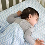 Fitted-Crib-Sheet-Set-Toddler-Sheet-Set-2-Pack-100-Jersey-Cotton-for-Baby-Boy-Blue-Chevron-and-Polka-Dots-by-Elys-Co