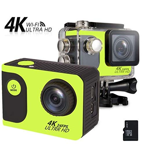 viivor Vision 3 4K Sports Action Camera Ultra HD 30m Underwater Waterproof WiFi 16MP DV Camcorder 170 Degree Wide 2 inch LCD Screen/Remote Control/ 2 Rechargeable Batteries/ 19 Mounting Kits