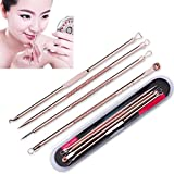 TONSEE 4 Pcs/set Blackhead Remover Pimple Comedone Extractor Tool Best Acne Removal Kit