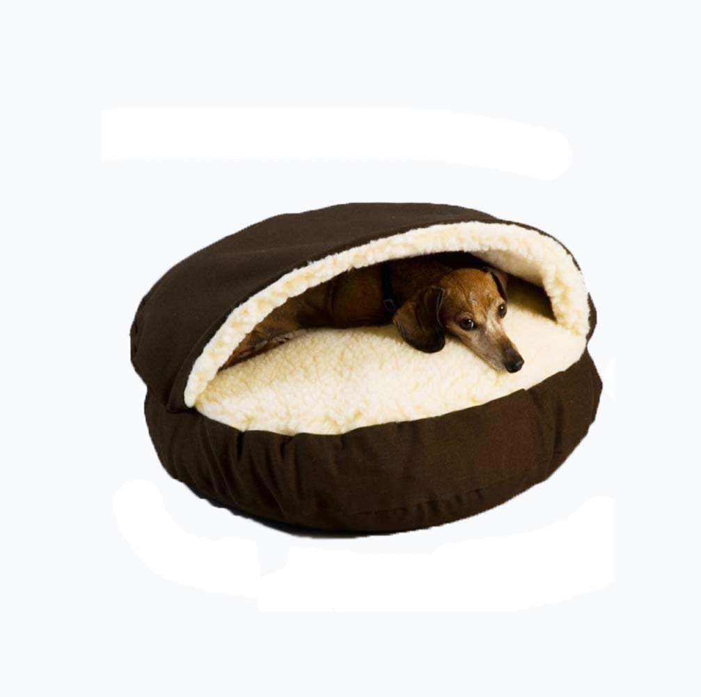 A Small A Small ZHANGZHIYUA Pet Dog Bed Round Burrow Pet Bed for Dogs & Cats Styles,A,S