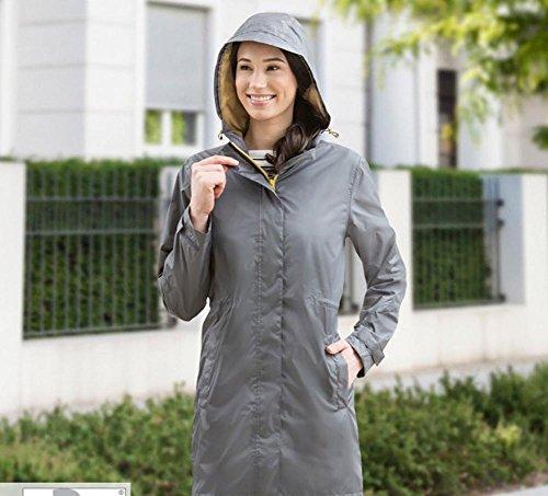 Damen Regenmantel Regenjacke Grau in verschiedenen Größen
