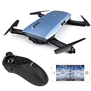 JJRC H47 ELFIE Plus 720P WIFI FPV Foldable Selfie Drone With Gravity Sensor Control Altitude Hold Mode RTF - Blue from JJRC
