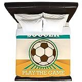 King Duvet Cover Soccer Football Futbol Play The Game