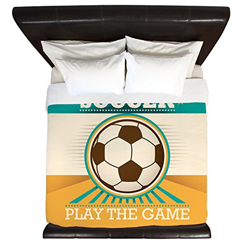King Duvet Cover Soccer Football Futbol Play The Game by Royal Lion