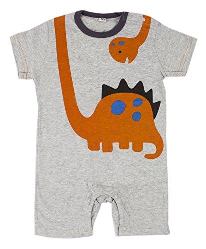 Stylesilove Cute Cartoon Animal Print Baby Toddler Boy Romper