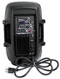 PylePro 600 Watt 8 Inch Bluetooth Powered Pro DJ PA Audio Speaker (2 Pack)