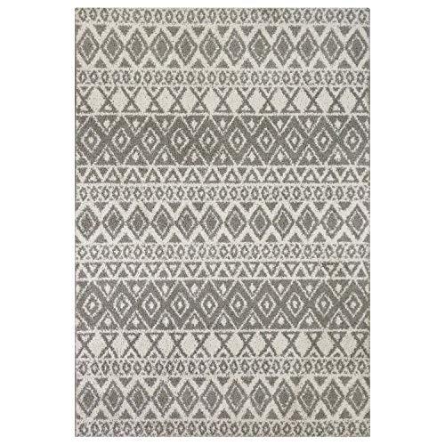 Mainstays Hayden Shag Area Rug and Runner Collection,5'x7',Greystone