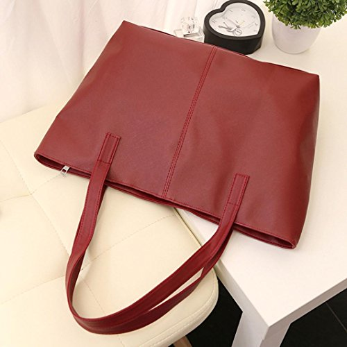 Anyada Handbag Blue Tote Celebrity Leather Large Shoulder Bag Ladies Dark Purse Red Simple Women FRZvqxrF