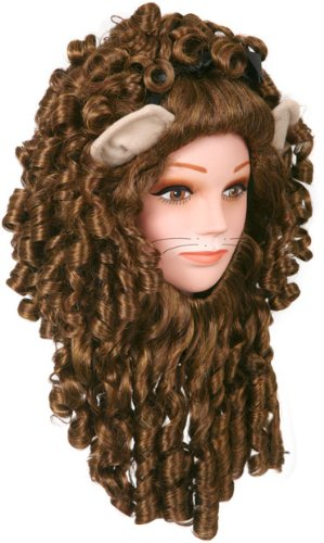 [Super Deluxe Lion Adult Costume Wig] (Cowardly Lion Costumes For Adults)