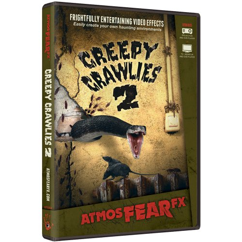 AtmosFX Creepy Crawlies 2 Digital Decorations DVD for Halloween Holiday Projection -