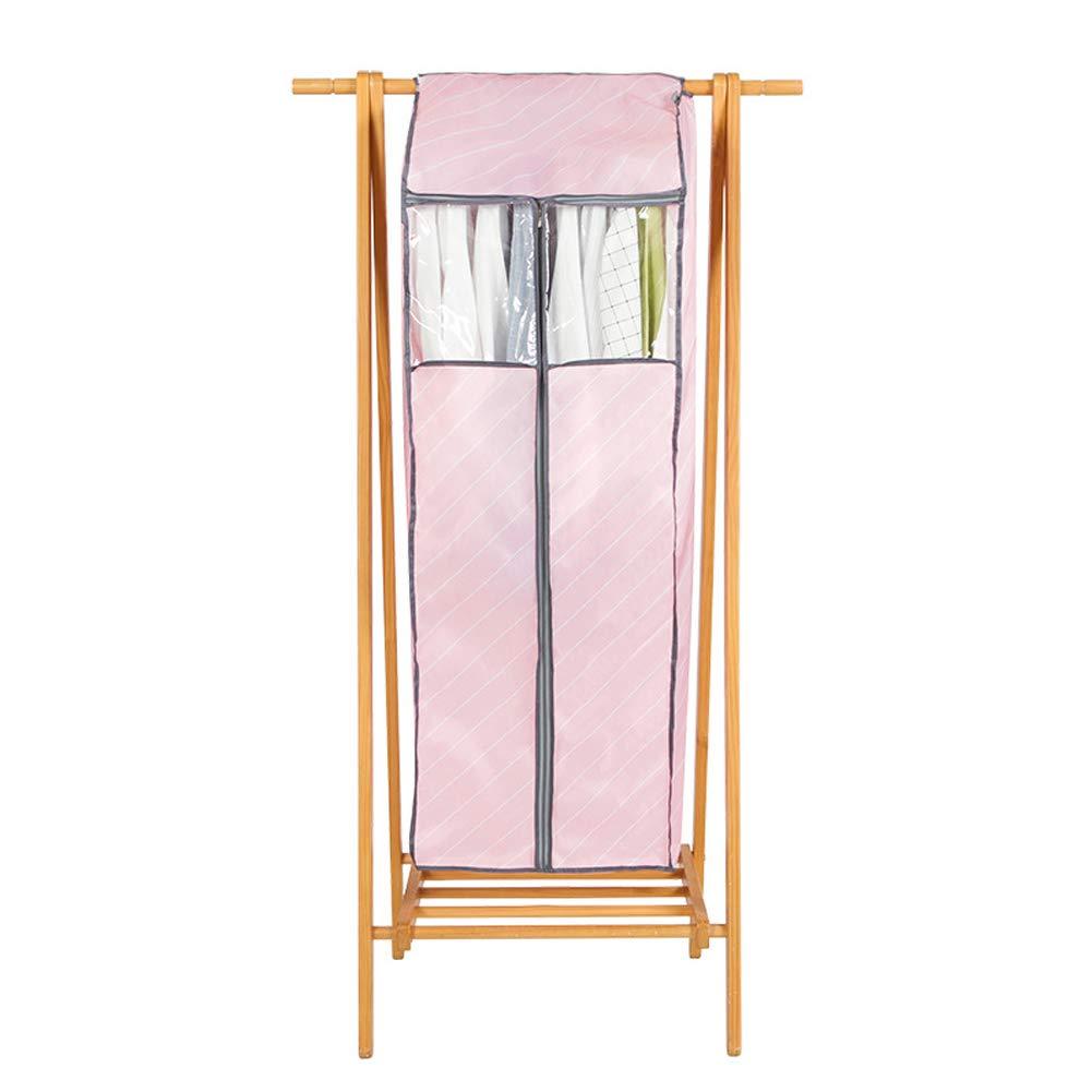 "42 ""Jumbo Oxford Dustproof Garment Cover Clothes Jacket Suit Storage Wardrobe Hanging Garment Bag Rack Cover Closet Organizer With Transparent Window& Full Zipper & Magic Tape(HZC174) (Pink)"