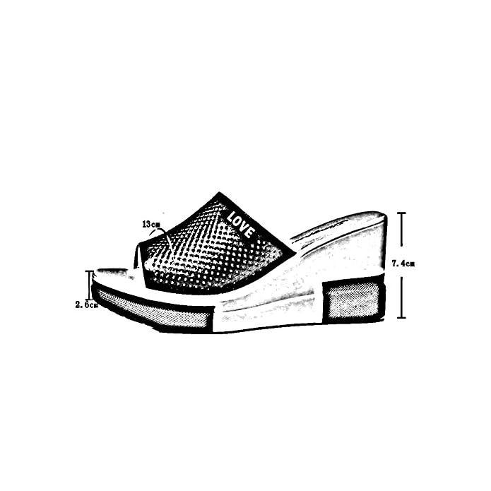 Lixiong Ciabattine Estate Femminile Fondo Spesso Tondo Di Pino Altezza Tacco 7 4 Cm 2 Colori -scarpe Moda colore 1-white Dimensioni Eu36 uk4 cn36 230