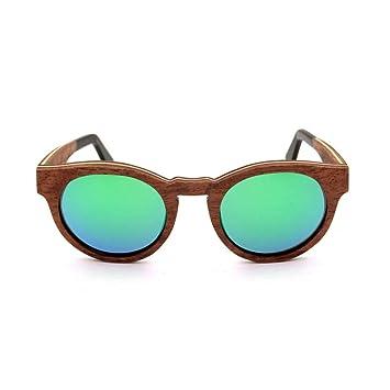 WULE-Sunglasses Unisex Gafas de Sol Montura de Madera ...