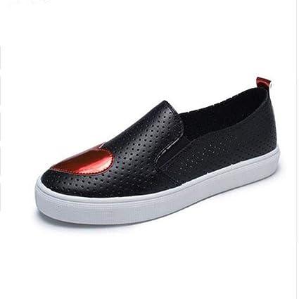 YSFU Zapatillas Zapatillas De Mujer Zapatillas Vulcanizadas Para Damas Blancas Y Negras Planas Deportivas Al Aire