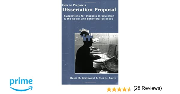 preparation of a dissertation proposal