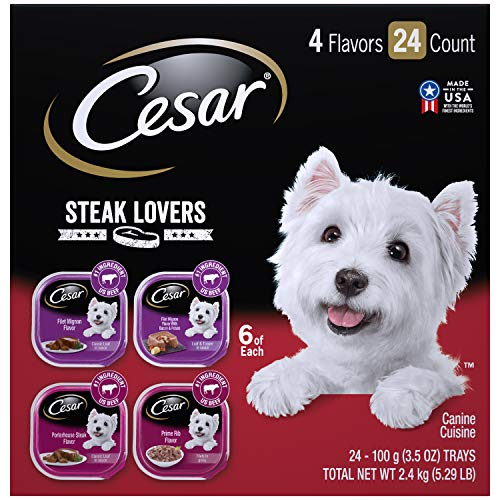 CESAR Soft Wet Dog Food Steak Lovers Variety Pack...