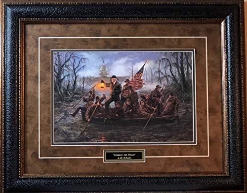 Jon McNaughton Crossing The Swamp Donald Trump Art Print-Framed 26 x 21 ()