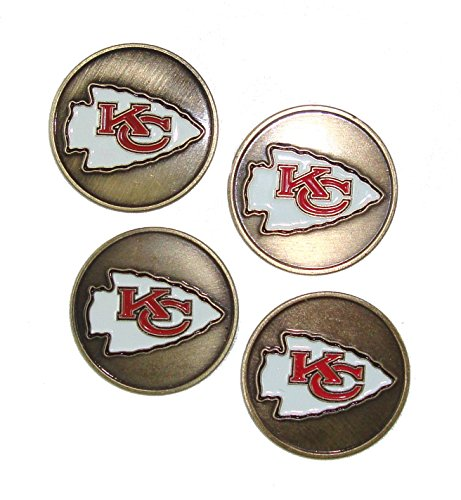 Kansas City Chiefs NFL Golf Ball Markers (4 Pack) by McArthur