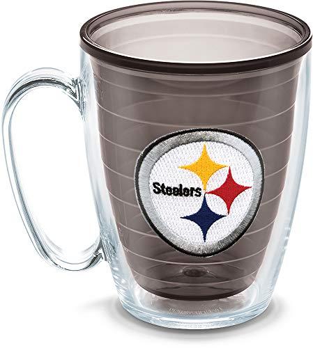 (Tervis NFL Pittsburgh Steelers Emblem Individual Mug, 16 oz, Quartz)