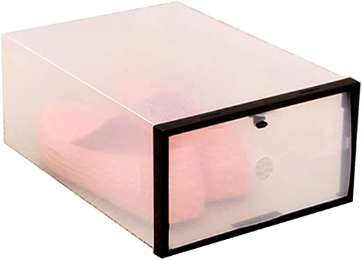 Caja de plástico transparente para apilar, plegable, caja ...