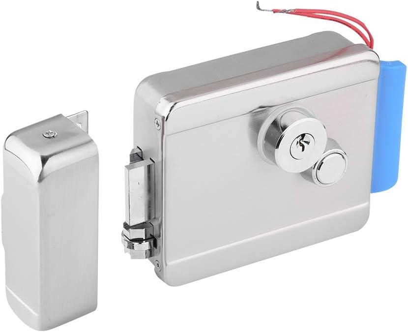 Kafuty Q799 Kit de Sistema de Control de Acceso de Acero Inoxidable para Cerradura de Puerta eléctrica de Seguridad para Puerta con Cabezales de Doble Cerradura en el Interior y en el Exterior