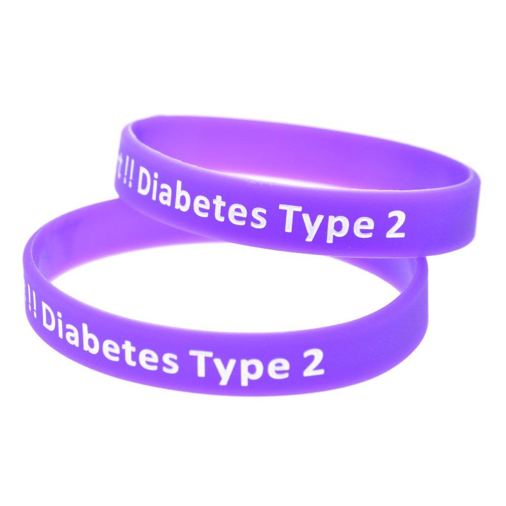 Jewelry & Watches Diabetes Care 2019 New Style Diabetes Type 2 Diabetic Bracelet Black Blue Red Pink Us Seller
