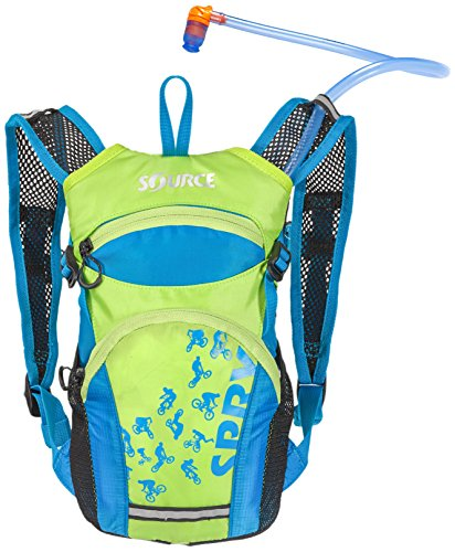 - Source Outdoor Spry 1.5L Hydration Pack for Kids and Youth, Blue/Green