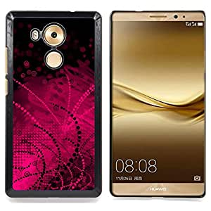 Stuss Case / Funda Carcasa protectora - Black Pattern Lines Dots - HUAWEI Ascend MATE 8