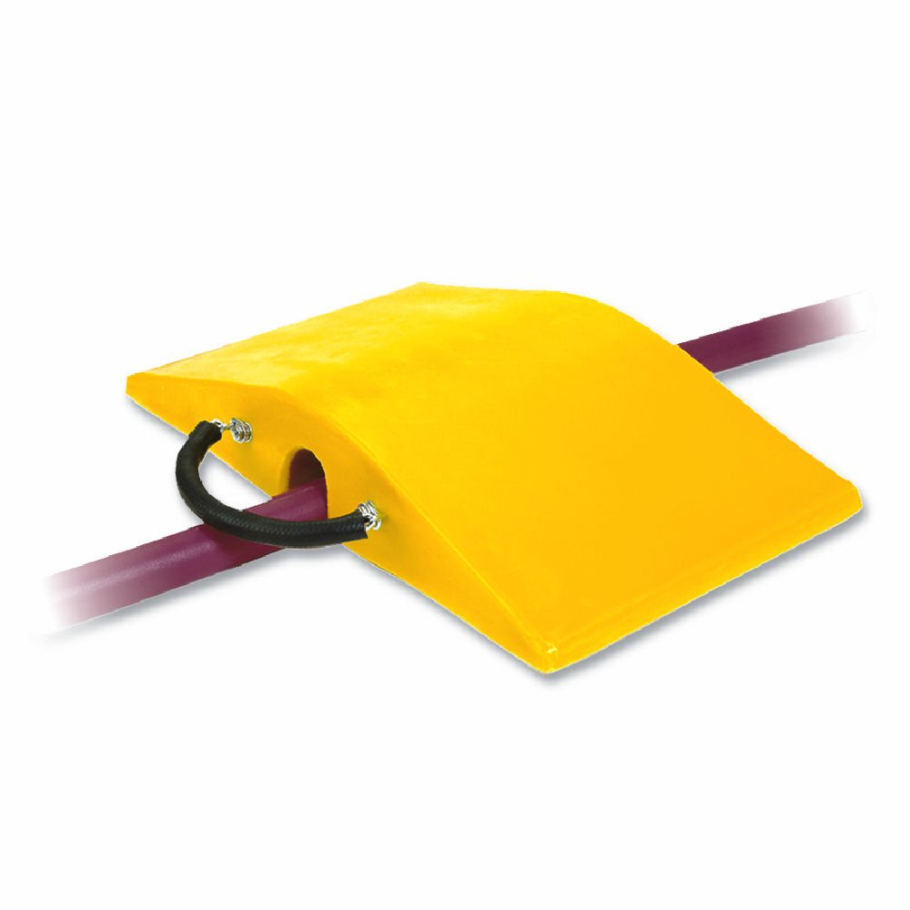 Super-Cross COP2200-3 Polyurethane Lightweight Utility Crossover Cable Protector, 3'' Tunnel Diameter, Yellow, 18'' Length, 30'' Width, 5'' Height