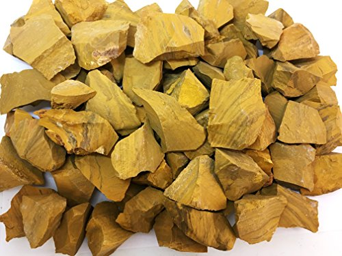 - One Pound Natural Rough Yellow Jasper - Crystal Tumbling, Cutting, Cabbing