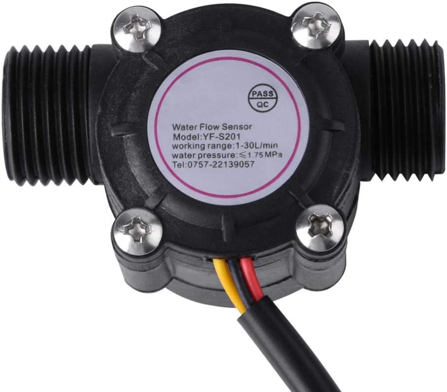 d/ébitm/ètre deau 1-30L//min capteur de Hall de d/ébit deau Turbine Interne en Acier Inoxydable Compteur de d/ébitm/ètre de Haute pr/écision Yosoo Health Gear Capteur de d/ébit deau
