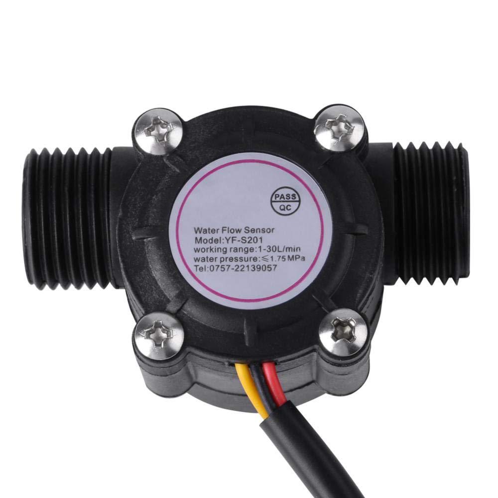 Sensor de flujo de agua G1/2, Caudalímetro de control 1-30L/min, Interruptor del sensor de flujo de agua de alta precisión DN15 G1/2 para Arduino Nuevo