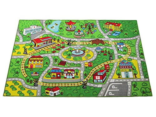 "JACKSON Kid Large Road Rugs With Non-Slip Backing,52""x 74"" Learning Carpet For Playroom and Nursery"