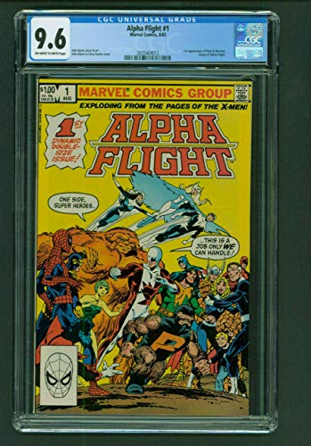 Alpha Flight 1 CGC 9.6 White Pages Marvel Comics 1983 1st Puck and Marina