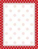 Barker Creek - Office Products 8-1/2 x 11 Designer Computer Paper, Red & White Dot, 50-Sheets (LL-716)