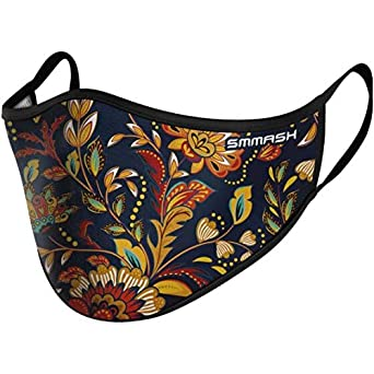SMMASH - Mascarilla facial reutilizable, lavable, multifunción, para ciclismo, correr, protección contra el polvo, para hombre y mujer