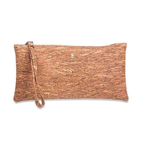 Natural Cork Wristlet Made in Portugal (Gold Brown)