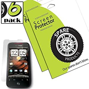 Spare Products Screen Protector Film for HTC Droid Incredible 2 & S - (6 Pack) Anti-Fingerprint