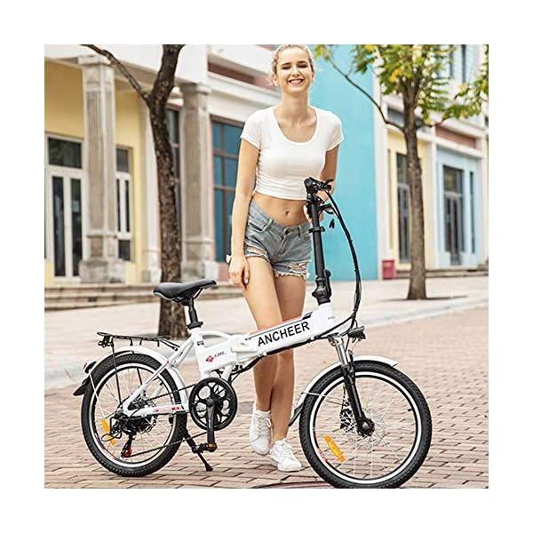 """BIKFUN Bicicletta Elettrica Pieghevole, Bici Elettriche 20"""", Motore 250W Batteria 36V 8Ah, Shimano a 7 velocità 2 spesavip"""