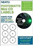 Genuine Neato - PhotoMatte Mini CD Labels CLP-192324 – 6 Labels per Sheet - 17 Sheets - 102 Labels Total  - Online Design Access