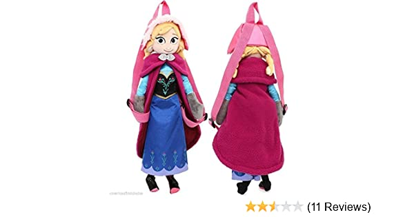 Amazon.com: Mattel Disney Frozen Anna 14-Inch Plush Backpack: Toys & Games