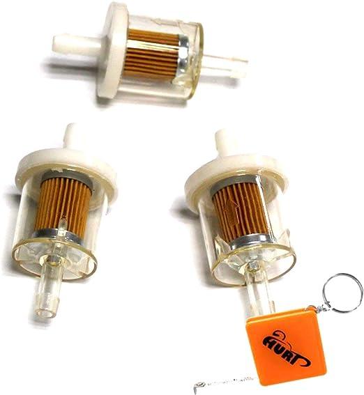 Huri 3x Kraftstofffilter Benzinfilter Aufsitzmäher Rasentraktor Viele Motoren Ersetzt Briggs Stratton 691035 493629 695666 Am1008356 Auto