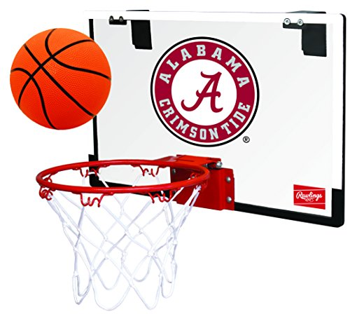 NCAA Alabama Crimson Tide 00673066111NCAA Game On Polycarbonate Hoop Set (All Team Options), Red, Youth