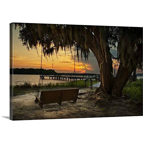 Natalie Mikaels Premium Thick-Wrap Canvas Wall Art Print Entitled Savannah Sunset 36