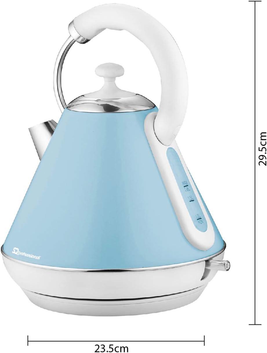 Bleu clair Bouilloire électrique sans fil 2200W 1.8L ébullition rapide